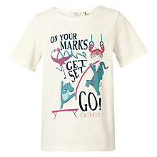 Buy Fat Face Girls' On Your Marks T-Shirt, Ecru Online at johnlewis.com