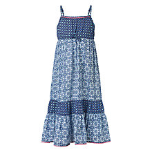 Buy Fat Face Girls' Printed Dress, Light Navy Online at johnlewis.com