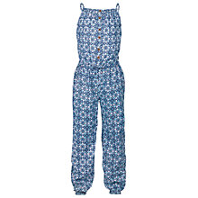 Buy Fat Face Girls' Beach Hut Jumpsuit, Navy Online at johnlewis.com