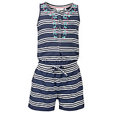 Buy Fat Face Girls' Hove Stripe Jersey Playsuit Online at johnlewis.com