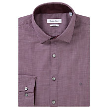 Buy Calvin Klein Puppytooth Slim Fit Shirt, Sangria Online at johnlewis.com