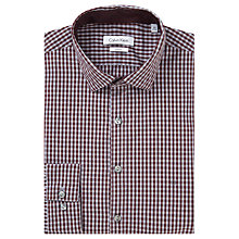 Buy Calvin Klein Gingham Slim Fit Shirt, Raspberry Online at johnlewis.com