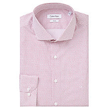 Buy Calvin Klein Geo Square Dot Fitted Cotton Shirt, Dusty Rose Online at johnlewis.com