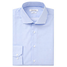 Buy Calvin Klein Micro Starbust Print Fitted Shirt, Light Blue Online at johnlewis.com