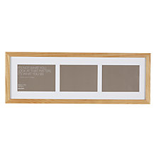 "Buy John Lewis Multi-aperture Oak Photo Frame, 3 Photo, 4 x 6"" (10 x 15cm) Online at johnlewis.com"