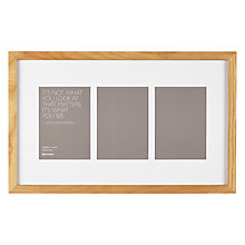 "Buy John Lewis Multi-aperture Oak Photo Frame, 3 Photo, 5 x 7"" (13 x 18cm) Online at johnlewis.com"