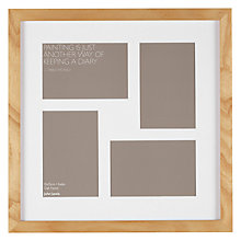 "Buy John Lewis Multi-aperture Oak Square Photo Frame, 4 Photo, 4 x 6"" (10 x 15cm) Online at johnlewis.com"