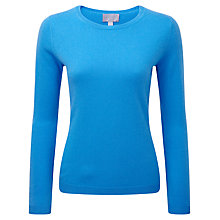 Buy Pure Collection Balham Round Neck Jumper, Greek Blue Online at johnlewis.com
