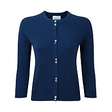 Buy Pure Collection Cailyn Cashmere Round Neck Cardigan, French Navy Online at johnlewis.com