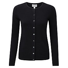 Buy Pure Collection Macey Crew Neck Cardigan, Black Online at johnlewis.com