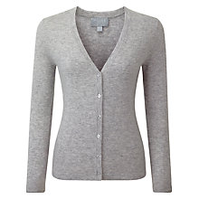 Buy Pure Collection Sadie Cashmere V Neck Cardigan, Heather Dove Online at johnlewis.com