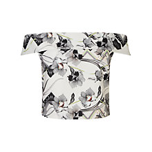 Buy Miss Selfridge Orchid Print Bardot Top, Multi Online at johnlewis.com