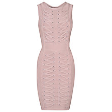 Buy True Decadence Lace Up Bodycon Dress, Dusty Pink Online at johnlewis.com