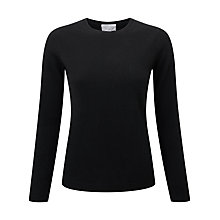 Buy Pure Collection Abbie Round Neck Cashmere Jumper, Black Online at johnlewis.com
