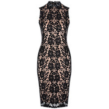 Buy True Decadence Lace High Neck Bodycon Dress, Black Online at johnlewis.com