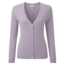 Buy Pure Collection Rachel Cashmere V Neck Cardigan, Dusty Orchid Online at johnlewis.com