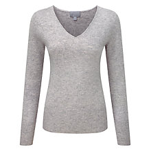 Buy Pure Collection Yasmin Cashmere V Neck Jumper, Heather Dove Online at johnlewis.com