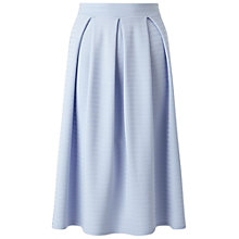 Buy Miss Selfridge Textured Box Pleat Midi Skirt, Blue Online at johnlewis.com