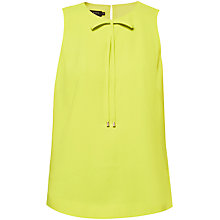 Buy Ted Baker Hadiaa Bow Crepe Top, Lime Online at johnlewis.com