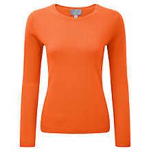 Buy Pure Collection Cairn Round Neck Cashmere Jumper, Sunset Orange Online at johnlewis.com