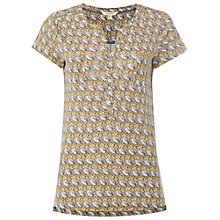 Buy White Stuff Spot the Bird Linen Shirt, Nectar Yellow Online at johnlewis.com