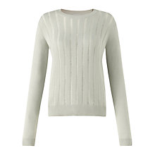 Buy Jigsaw Ladder Stitch Front Jumper, Soft Grey Online at johnlewis.com