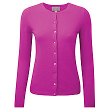 Buy Pure Collection Nancy Crew Neck Cardigan, Vivid Magenta Online at johnlewis.com