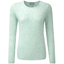 Buy Pure Collection Naomi Cashmere Crew Neck Jumper, Opal Fleck Online at johnlewis.com