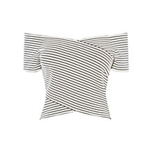Buy Karen Millen Stripe Shoulder Top, Multi Online at johnlewis.com