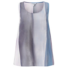 Buy Jigsaw Water Stripe Silk Tank Top, Violet Online at johnlewis.com