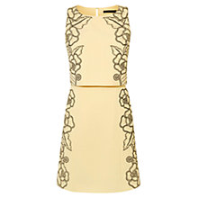 Buy Karen Millen Lace Embellished Double Layer Dress, Yellow/Multi Online at johnlewis.com