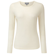 Buy Pure Collection Paloma Cashmere Crew Neck Jumper, Soft White Online at johnlewis.com