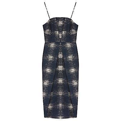Finery Amott Jacquard Cocktail Dress, Navy