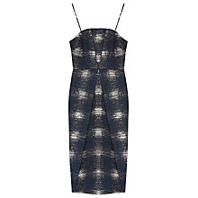 Buy Finery Amott Jacquard Cocktail Dress, Navy Online at johnlewis.com