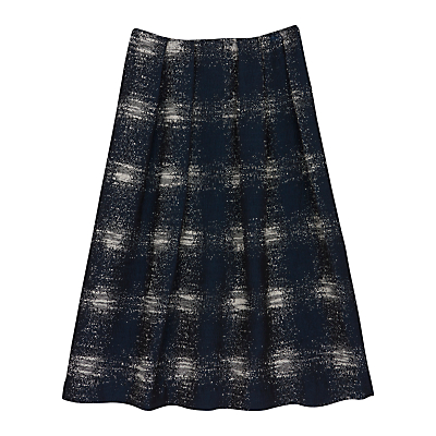 Finery Argon Full Jacquard Skirt, Navy