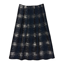 Buy Finery Argon Full Jacquard Skirt, Navy Online at johnlewis.com