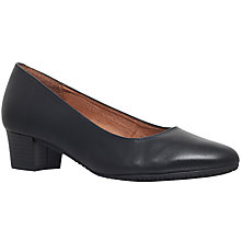 Buy Carvela Comfort Aero Block Heeled Court Shoes, Black Online at johnlewis.com