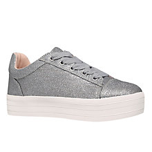 Buy Carvela Lupo Flatform Trainers, Silver Online at johnlewis.com