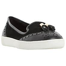 Buy Dune Elyse Tassel Slip On Loafers, Black Online at johnlewis.com