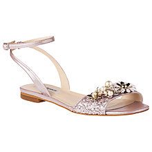 Buy L.K. Bennett Eve Embellished Sandals, Ballerina Online at johnlewis.com