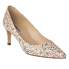 Buy L.K. Bennett Florida Pointed Toe Court Shoes, Pink Online at johnlewis.com