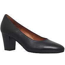 Buy Carvela Comfort Air Block Heeled Court Shoes, Black Online at johnlewis.com