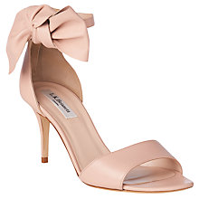 Buy L.K. Bennett Agata Bow Stiletto Sandals, Marshmallow Online at johnlewis.com