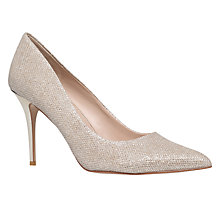 Buy Carvela Goalie Stiletto Heeled Court Shoes, Gold Online at johnlewis.com