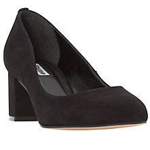 Buy Dune Atlas Block Heeled Court Shoes, Black Online at johnlewis.com
