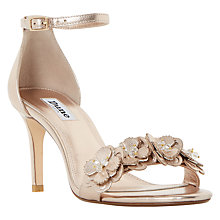 Buy Dune Magnolea Stiletto Heeled Sandals, Rose Gold Online at johnlewis.com
