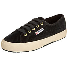 Buy Superga 2750 Velvet Plimsolls, Dark Green Online at johnlewis.com