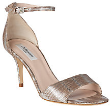 Buy L.K. Bennett Mya Stiletto Sandals, Silver Online at johnlewis.com