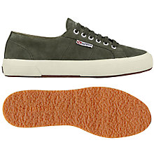 Buy Superga 2750 Sueu Trainer Plimsolls, Military Green Online at johnlewis.com