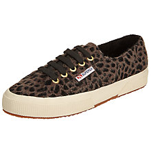 Buy Superga 2750 Hair on Hide Plimsolls, Black Taupe Online at johnlewis.com